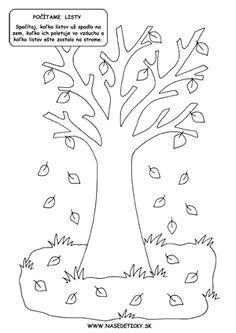 Počítanie listov - pracovný list pre deti