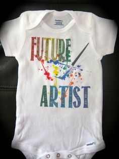 Hey, I found this really awesome Etsy listing at https://www.etsy.com/listing/200838427/future-artist-onesie-funny-cute-novelty