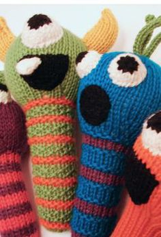Monster Rattles by Emily Kintigh    This may be what all the babies get...