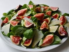 Basil And Fig Salad With Honey And Pecorino – love the figs!!!