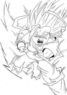 Teen Gohan Kamehameha Drawing