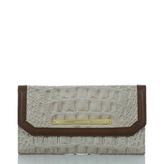 And of course the matching wallet! Brahmin Soft Checkbook Wallet in Angora Vermeer...
