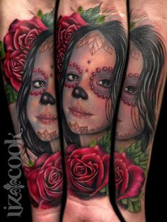 2be3778c89fdb Rebel Muse Tattoo : Tattoos : Liz Cook : Day of the Dead Daughter Rebel Muse