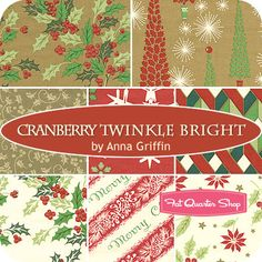 Vintage inspired Christmas fat quarter bundle....really neat!
