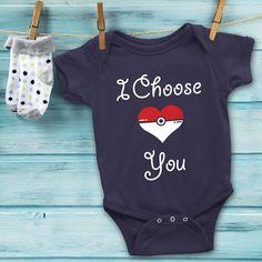 POKEMON Baby Onesie I Choose You // Pokemon by GiftIdeasFinder #onesie #baby #pokeball #pokemon