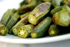 Roasted Okra...made this tonight and my kids loved them! Roasting them makes the slime go away and they taste like fried okra!