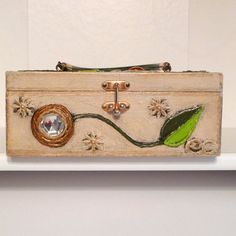 Enid Collins Paper Mache Box Purse Flower by plattermatter on Etsy