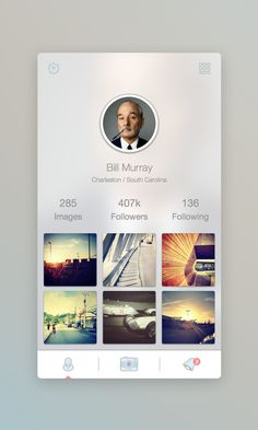Profile Screen by Martin David #mobile #ui #design