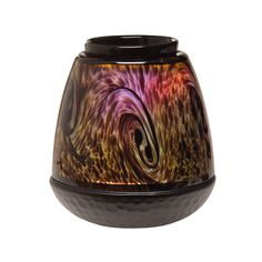 Scentsy Tiger's Eye Warmer  Elegant, hand-blown art glass in an organic tiger's eye pattern. Colour-changing LED provides a spectrum of subtly changing light.  #scentsy #tigerseye #waxwarmer