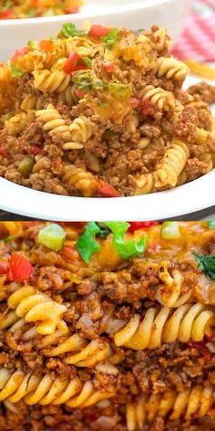 Cheeseburger Casserole is easy to make filling and delicious loaded with cheddar cheese beef juicy tomatoes and pasta. This is the perfect weeknight meal that also makes delicious leftovers. Meat Recipes, Dinner Recipes, Healthy Recipes, Burger Recipes, Cooking Recipes, Cooking Fish, Chickpea Recipes, Kale Recipes, Lentil Recipes