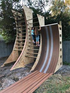 ninja warrior course for kids blueprints Backyard Gym, Backyard Obstacle Course, Kids Obstacle Course, Backyard Playground, Backyard For Kids, Backyard Projects, Kids Ninja Warrior, American Ninja Warrior Obstacles, Ninja Warrior Course