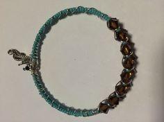 Memory wire bracelet with Swarovski Crystals