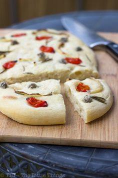 Easy focaccia / crusty flat bread