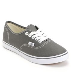 Vans Girls Authentic Lo Pro Pewter Shoe.... I have been wanting a pair of these exact colored shoes for forever!!!