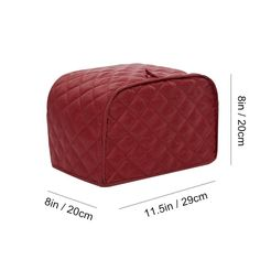 Shopline Toaster Cover Polyester Toaster Cover for Two Four Slice Toaster and Dust and Fingerprint Protection / x 8 x 8 S Red *** Check this awesome product by going to the link at the image. (This is an affiliate link) Dehydrators, Toaster Ovens, Bread Machines, Appliance Covers, Juicers, Skillets, Irons, Small Appliances
