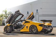 Volcano Yellow McLaren P1 on Giovanna Wheels