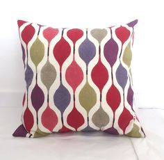 "Envelope Cushion Covers - 50x 50 cm (20"" x 20"") / Bright Coloured Cushion Covers / Retro Cushion Covers"