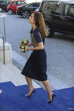 La princesse Mary de Danemark assurait le 2 mai 2012 l'ouverture d'un consortium dans le cadre de la conférence ''Un Danemark mondial'', à Copenhague.