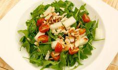 Receta de Ensalada de rúcula, melón y tomates cherry
