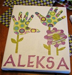 handprint flowers - made great gifts for grandparents!!