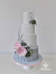 Wedding cake by MOLI Cakes - http://cakesdecor.com/cakes/288624-wedding-cake