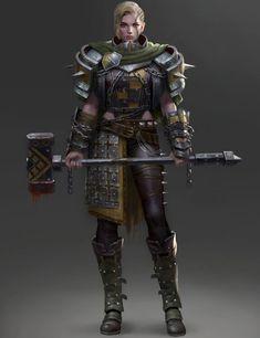 f Cleric Med Armor WarHammer hilvl underdark planes traveler High Fantasy, Fantasy Women, Fantasy Girl, Dnd Characters, Fantasy Characters, Female Characters, Fantasy Character Design, Character Concept, Character Art