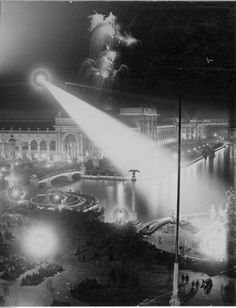 """And as promised, the """"…most gorgeous display of fireworks ever seen in America,"""" Chicago Day, Columbian Exposition, 1893, ..."""