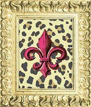 Fleur de lis and leopard print