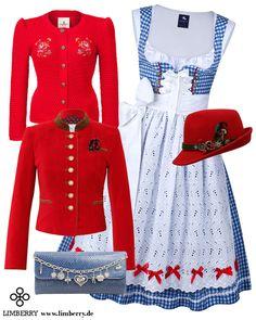Knalliges Outfit in Rot-Blau für Damen die auffallen möchten