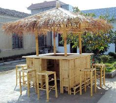 A beautiful Tiki Bar for your pool area