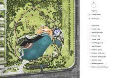Image 29 of 32 from gallery of Baotou Vanke Central Park / ZAP Associates LLC. Park Landscape, Urban Landscape, Landscape Paintings, Landscape Architecture, Site Plan Rendering, Draw Diagram, Tourist Center, Sustainable City, New Forest
