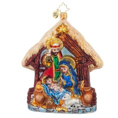Christopher Radko Joyful Night Christmas Ornament ** Find out more about the great product at the image link. (This is an affiliate link) #HomeDecorIdeas