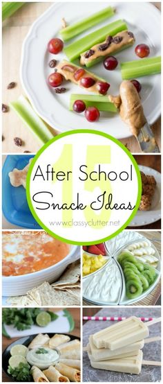 15 After School Snack Ideas - these are great for snacks year round too!