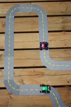 DIY Fabric Roads for kids made with your Silhouette