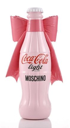 Pink Coke - Breast Cancer Awareness - Italian designer series - Moschino - Coca Cola - Pink Glass Bottle