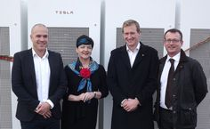 Europes first grid-scale Tesla Powerpack energy storage system installation was recently officially unveiled in Somerset (England) to provide enough electricity to supply for the needs of about 500 regional households if necessary. Renewable Energy, Solar Energy, Solar Power, Nuclear Energy, Nuclear Power, Solar Paint, Somerset England, Tesla Motors, Solar Installation