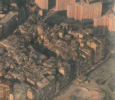 Kowloon walled city, Hong Kong. Destroyed 1993