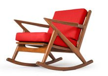 The Kennedy Rocking Chair in Klein Atomic fabric by Thrive Furniture