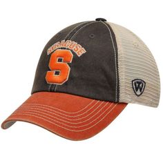 check out 40e24 ef714 Syracuse Orange Top of the World Navy Orange Offroad Adjustable Snapback Hat  Cap