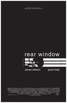 """Rear Window by Alfred Hitchcock """"Tell me exactly what you saw and what you think it means. Alfred Hitchcock, Hitchcock Film, Rear Window Movie, Window Film, Window Poster, Alternative Movie Posters, Movie Poster Art, Minimalist Poster, Film Music Books"""