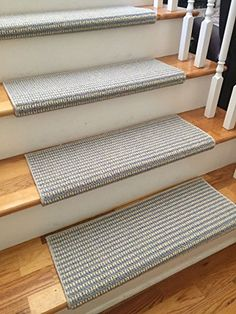 Sunburst Morning Sky New Zealand Wool! TRUE Bullnose™ Carpet Stair Tread  Runner Replacement For Style, Comfort U0026 Safety (Sold Each)