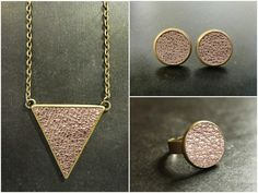 Geometrisches Schmuckset Dreieck - Roségold metall von KaaLee.de auf DaWanda.com