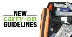 Carry-on luggage guidelines from the International Air Transport Association (IATA).