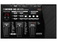 Pedaleira para Guitarra Boss ME - 25 - 30 Efeitos