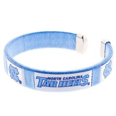 UNC North Carolina Tarheels Spirit Bracelet Cuff Ribbon Logo ACC NCAA Basketball