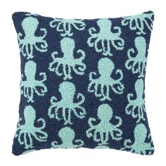 Adore this!  Hand-hooked wool pillow.  Product: PillowConstruction Material: 100% Wool cover and polyester fillColor: ...