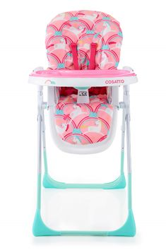 It's highchair vs food and Cosatto's Noodle Supa Magic Unicorns wins trays-down with easy-clean, helpful ways. Go shop your easy-wean foldable foodie friend. Baby Doll Nursery, Girl Nursery, Baby Dolls, Girl High Chair, Baby Doll Accessories, Baby Unicorn, Baby Furniture, Reborn Babies, Toys For Girls