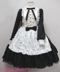 Lace Market is the largest online marketplace for EGL (Elegant Gothic Lolita) Fashion. Sell and buy Lolita dresses, skirts, accessories and more with thousands of users around the world! Maid Outfit Cosplay, Lolita Cosplay, Kawaii Fashion, Lolita Fashion, Cute Fashion, One Piece Dress, The Dress, Mode Outfits, Fashion Outfits