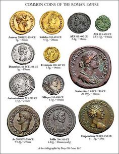 These are examples of the currency that was used during the Roman Republic.  At first, I didn't believe it because they look better than many of the coins we have today, showing how advanced the Romans were.