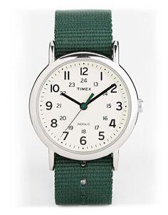 Timex - Horloge - Weekender Slip Thru Green